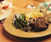 Lamb Chops with Asian Pear and Kiwi Salsa Recipe
