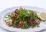 Scallops with pancetta and mint butter Recipe