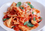 Cheats home-made pappardelle with quick tomato sauce Recipe