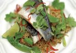Steamed thai-style sea bass and rice Recipe