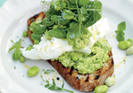 Incredible smashed peas and broad beans on toast Recipe