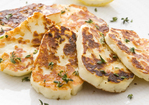Warm Halloumi with Herbs Recipe