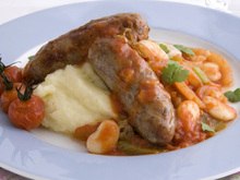 Sausages with Lima Beans Recipe