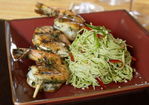 Thai Grilled Prawns with Emerald Noodles Recipe