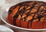 Chocolate-Drizzled Almond Cake Recipe