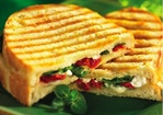 Spinach, Goat Cheese and Sun-Dried Tomato Panini Recipe