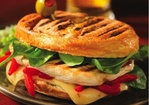 Grilled Chicken, Spinach, Red Pepper, and Pepper Jack Panini Recipe