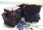Lavender Brownies with Cherries Recipe