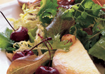 Mixed Lettuces with Roasted Cherries, Hazelnuts & Warm Saint-Marcellin Recipe