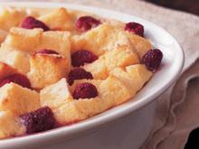Bursting with Raspberries Bread Pudding Recipe