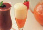 Fresh Orange Juice Spiked with Strawberry Puree Recipe