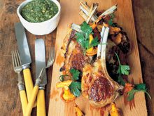 Best Lamb Cutlets with Special Basil Sauce Recipe