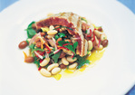 Chargrilled Tuna with Dressed Beans and Loadsa Herbs Recipe