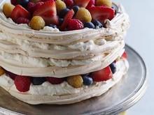 Summer Berry Vacherin With Crème Fraîche Recipe