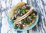 Mushroom, Rajas, and Corn Tacos with Queso Fresco Recipe