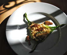 Baked Risotto with Morels and Asparagus Recipe