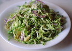 Shaved Brussels Sprout Salad with Red Onion, Lemon and Pecorino Recipe