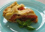 Parmesan Crusted Heirloom Tomato Caprese Pie Recipe