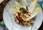 Apple and Endive Salad with Dates, Pomegranate, Sumac and Honey Walnut Labneh Recipe