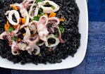 Spicy Squid Ink Risotto (without the plane ticket) Recipe