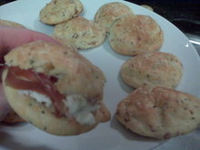 Parmesan and Prosciutto Profiteroles with Goat Cheese Recipe