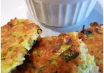 Spicy Zucchini Cakes with Creamy Green Chile Sauce Recipe