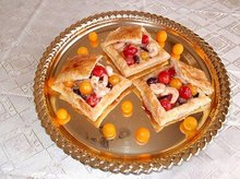 Roasted Shrimp and Cherry Tomato Salad Served in Puff Pastry Recipe