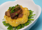Mini Polenta Cakes {with Feta &amp; Wild Mushroom Rag} Recipe