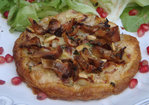 Very Thin Puff Pastry Tart with Pear, Sweet Gorgonzola and Mushroom Recipe