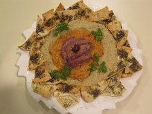 Baba Ghanooj Trio served with Za'atar Pita Toasts Recipe