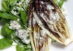 Grilled Treviso with Watercress & Creamy Blue Cheese Recipe