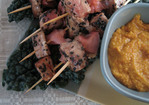 Black Sesame Tuna Skewers with Carrot-Miso Sauce Recipe
