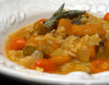 Pumpkin Risotto with Sage and Cherry Tomatoes Recipe