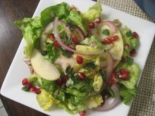Apple and Pomegranate Salad with Honey Vinaigrette Recipe