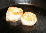 Sambuca Seared Scallops with Shiitake Truffle Cream Recipe