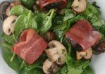 Spinach Salad with Bacon Wrapped Figs, Roasted Mushrooms, and Grilled Queso Blanco Recipe