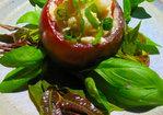 Kumatoes stuffed with basil chicken: a Thai-styled light salad without any mayo Recipe