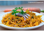 Warm Shredded Carrot Salad with Carrot Greens Recipe