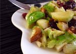 Warm Brussels Sprouts Salad with Honey-Dijon Vinaigrette Recipe