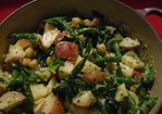 Warm Potato Salad with Kale and Green Beans and Miso Dressing Recipe