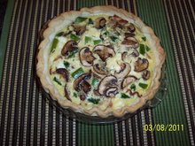 Baby Bella Asparagus Quiche with Goat Cheese Recipe