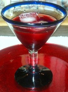 Pomegranate, Cherry Vodka-Tini Recipe