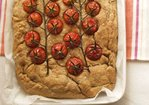 Farro flour Schiacciata with Cherry Tomatoes Recipe