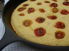 Cherry Tomato Studded Corn Bread Recipe