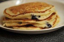 Lemony Cream Cheese Pancakes with Blueberries Recipe