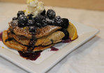 Black and Blue Spelt Pancakes Recipe