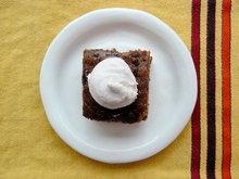 Spiced Date Cake with Mulled Wine Mascarpone Cream Recipe