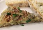 Artichoke Hearts and Onion Omelette - Omelette aux Oignons et Coeurs d' Artichauts Recipe