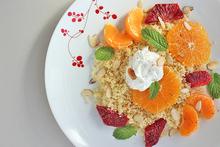 Couscous with Citrus, Yogurt, and Almonds Recipe