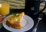 Red pepper egg cake (oven omelette) Recipe